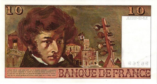 10 francs Berlioz sans signatures