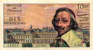 10 nouveaux francs richelieu
