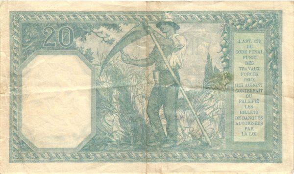 Verso 20 Francs Bayard
