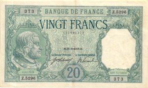 20 Francs Bayard