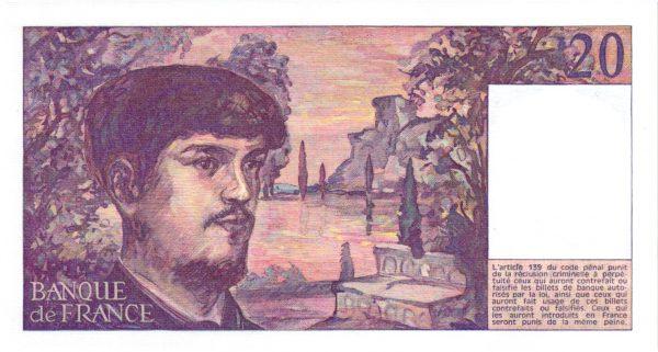 Verso 20 Francs Debussy