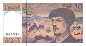 20 Francs Debussy Nouveau Code Pénal