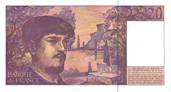 Verso 20 Francs Debussy Nouveau Code Pénal