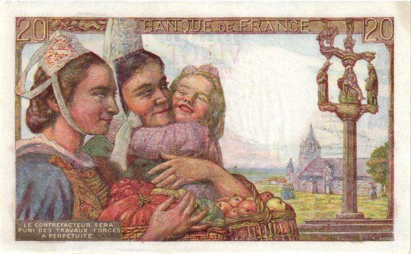 Verso 20 Francs Pêcheur