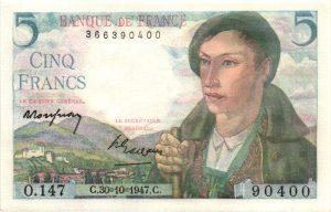 5 francs berger