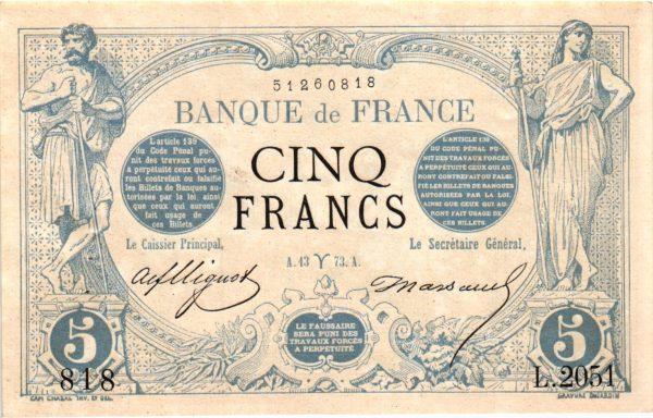 5 Francs Noir