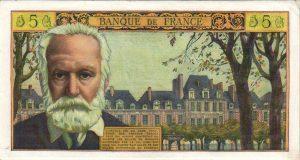 5 nouveaux francs Victor Hugo