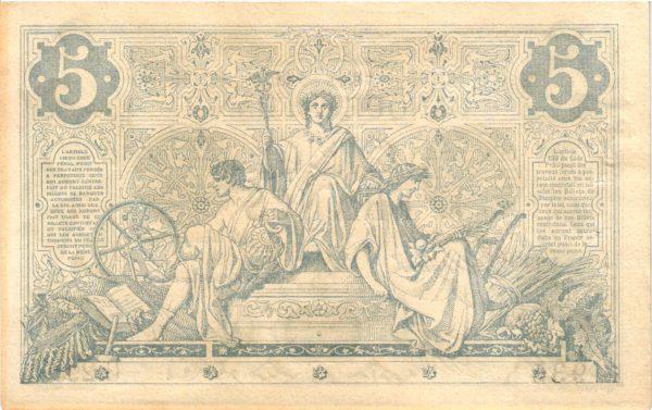 billet 5 francs noir