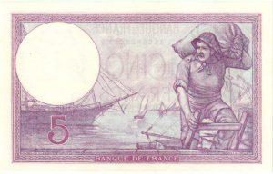 Billet 5 Francs VIOLET