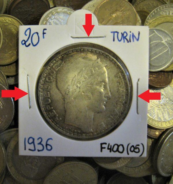 cadre carton monnaie agrafer