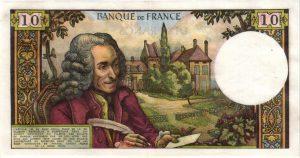 verso 10 Francs Voltaire
