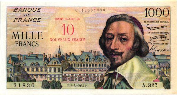 10 NF SUR 1000 FRANCS RICHELIEU
