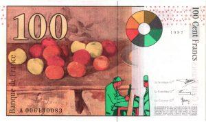 Verso 100 Francs Cézanne
