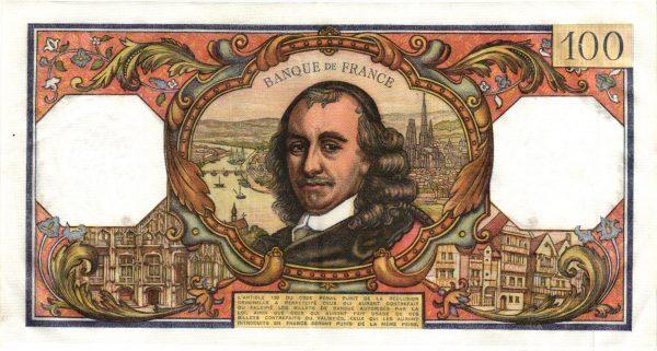 Verso 100 Francs Corneille