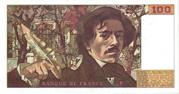 Verso 100 Francs Delacroix Modifié