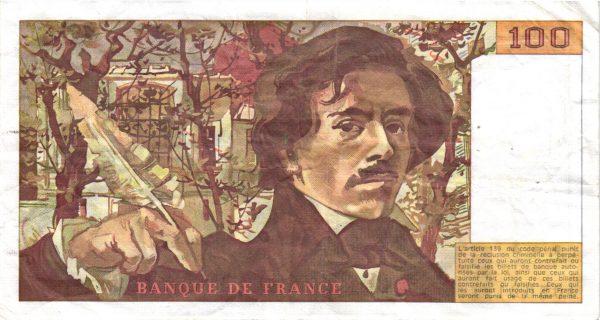 100 Francs Delacroix Imprimé en continu100 Francs Delacroix Imprimé en continu