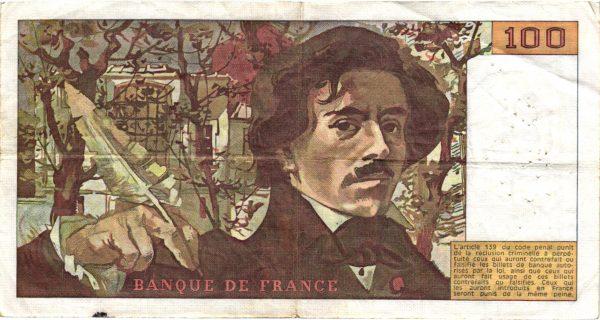 100 Francs Delacroix Modifié