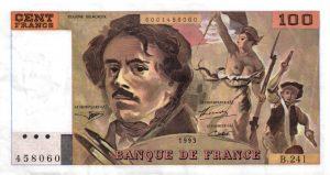 100 Francs Delacroix Imprimé en continu