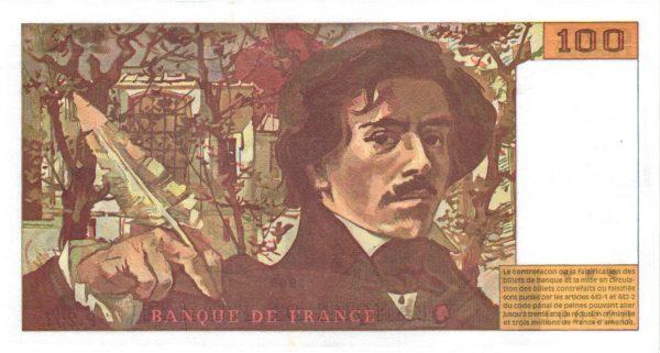 100 Francs DELACROIX Articles 442-1 et 442-2