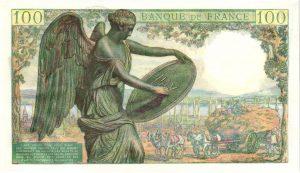 Verso 100 Francs Descartes