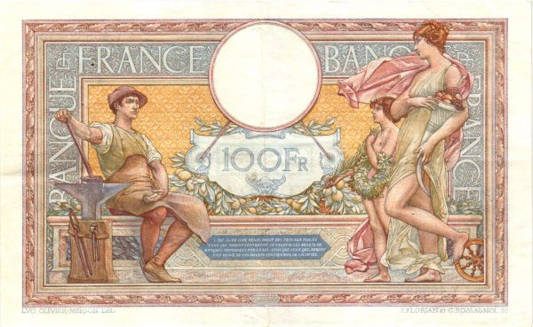 100 FRANCS LUC OLIVIER MERSON Grands cartouches