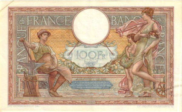 100 Francs Luc Olivier Merson modifié