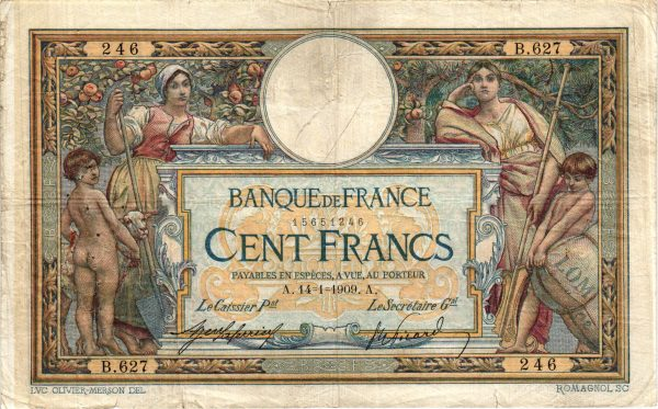 100 Francs Luc Olivier Merson avec LOM