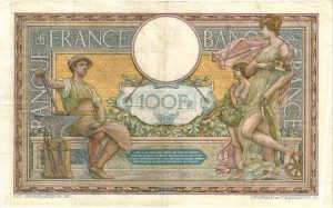 Verso 100 Francs Luc Olivier Merson