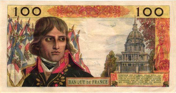Verso 100 Nouveaux Francs BonaparteVerso 100 Nouveaux Francs Bonaparte