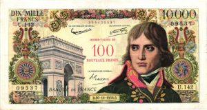 100 NF sur 10000 Francs Bonaparte