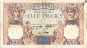1000 Francs Cérès et Mercure