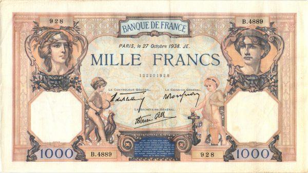 1000 Francs Cérès et Mercure Modifié