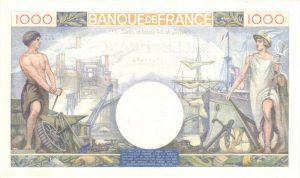 Verso 1000 Francs Commerce et Industrie