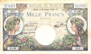 1000 Francs Commerce et Industrie