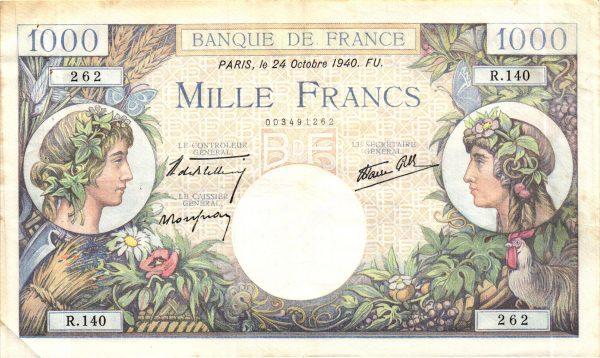1000 Francs Commerce et Industrie