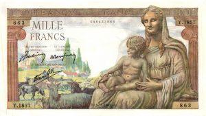 1000 Francs Déesse Déméter