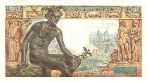 Verso 1000 Francs Déesse Déméter