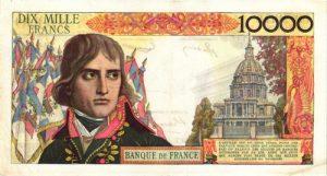 Verso 10000 Francs Bonaparte