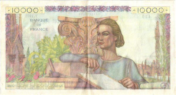 Verso 10000 Francs Génie Français