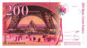 Verso 200 Francs Eiffel