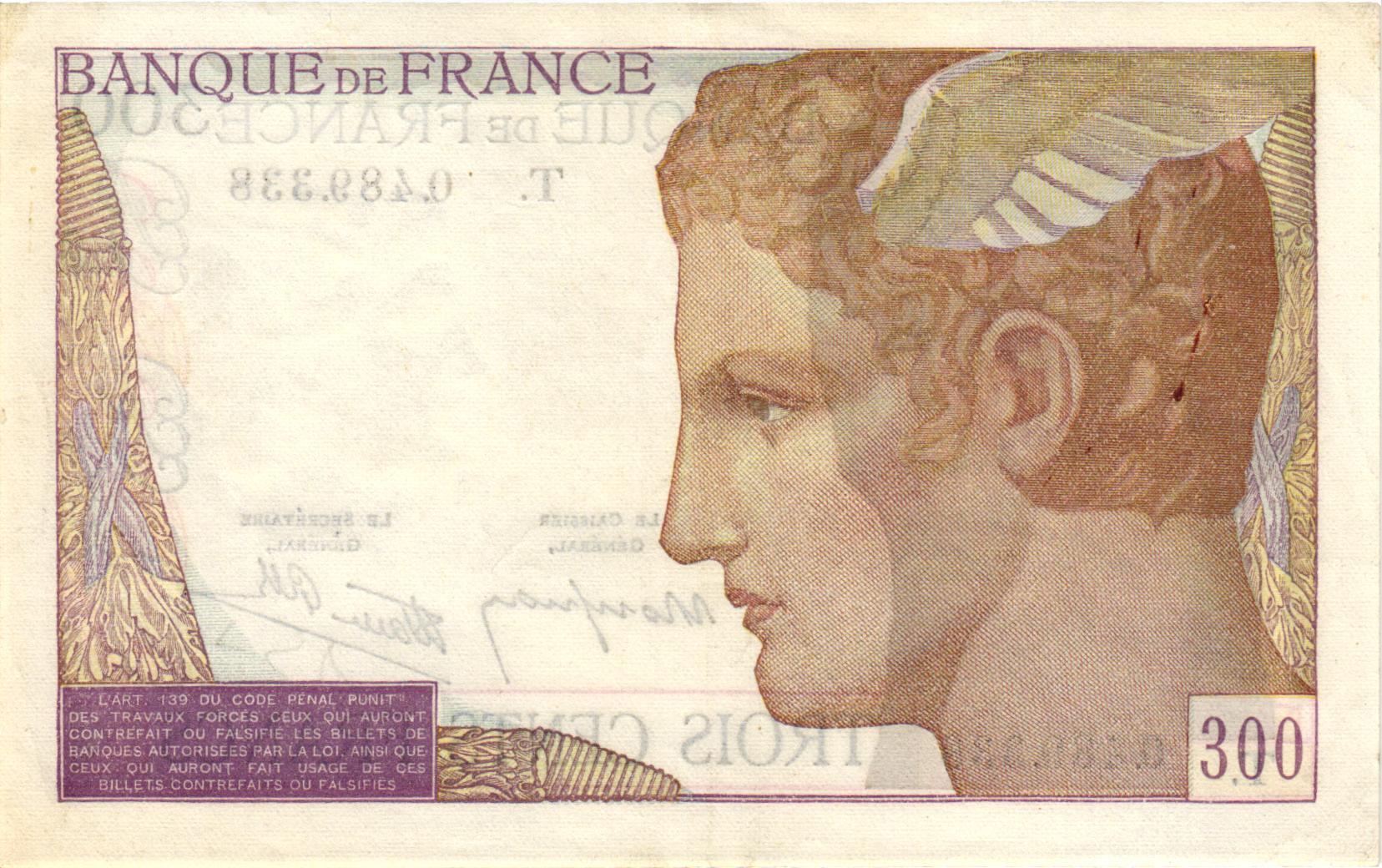 Verso 300 Francs