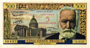 5 NF sur 500 Francs Victor Hugo