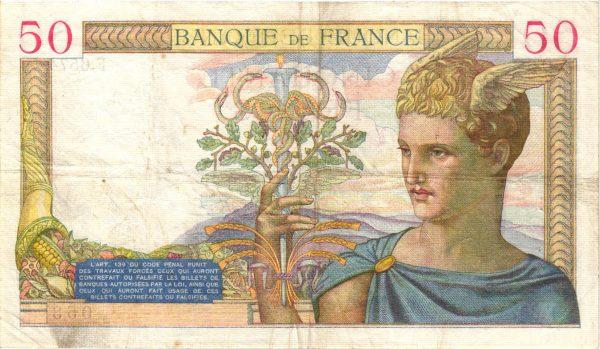 50 Francs Cérès modifié