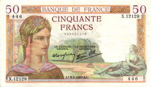 50 Francs Cérès