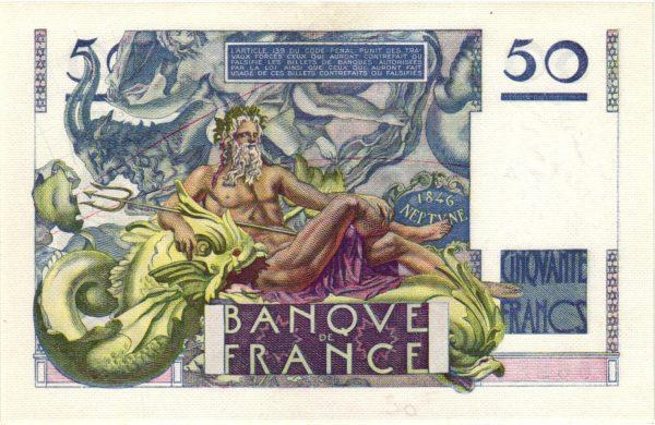 Verso 50 Francs Le Verrier