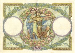 Verso 50 Francs Luc Olivier Merson
