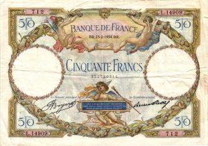 50 Francs Luc Olivier Merson modifié