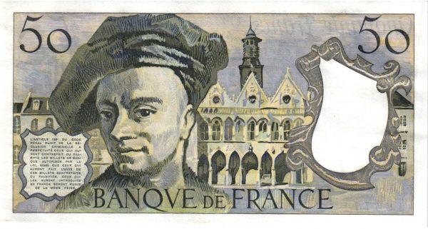 Verso 50 Francs Quentin de La Tour