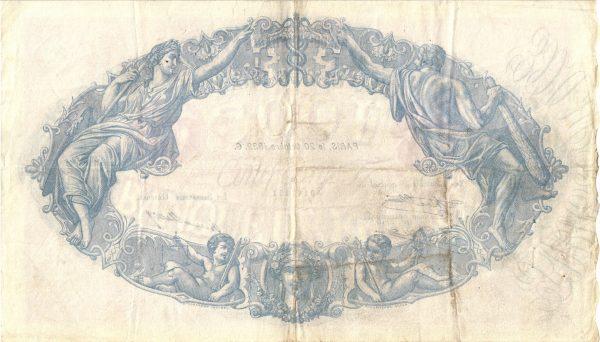500 Francs Bleu et Rose500 Francs Bleu et Rose