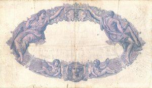Verso 500 Francs Bleu et Rose